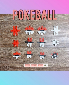 3D Perler Pokeball Build Pattern